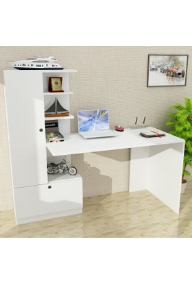Dekorister Domingos Dolaplı Çalışma Masası Beyaz