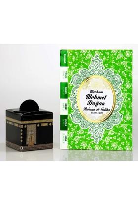 Mevlid Hediyesi Çanta Boy Yeşil 2'li Mevlüt Seti- Yasin Kitabı + Mevlüt Şekeri Kutusu