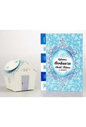 Mevlid Hediyesi Çanta Boy Mavi 2'li Mevlüt Seti- Yasin Kitabı + Mevlüt Şekeri Kutusu