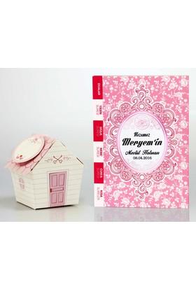 Mevlid Hediyesi Çanta Boy Pembe 2'li Mevlüt Seti- Yasin Kitabı + Mevlüt Şekeri Kutusu