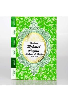 Mevlid Hediyesi İsim Baskılı Çanta Boy Yasin Kitabı - Yeşil Kapak