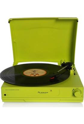 La Musica TR-17S Hoparlörlü Pikap - Yeşil