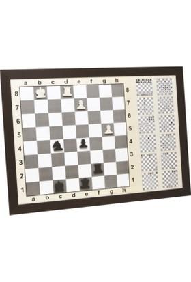 Yazboz Duvara Monte Manyetik Eğitimli Satranç Tahtası 80x110