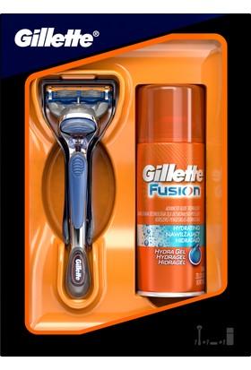 Gillette Fusion Tıraş Makinesi + 75 ml Tıraş Jeli