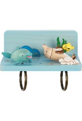 Wooderfullıfe Deniz Konseptli Anahtarlık Eğlenceli Yunuslar 1050702
