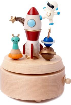 Wooderfullıfe Çocuk Konseptli Müzik Kutusu Astronot Ve Uzaylılar 1060505