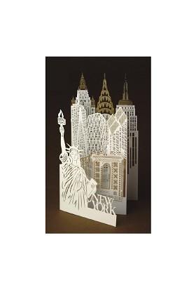 Wooderfullıfe 9530601 3D Özel Kesim Kart New York