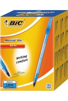 Bic Round Stick Tükenmez 60'lı Kalem-Mavi