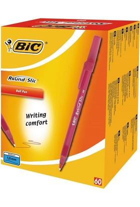 Bic Round Stick Tükenmez 60'lı Kalem Kırmızı