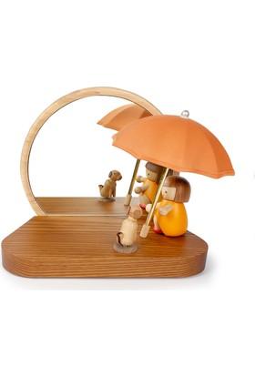 Wooderfullıfe Masa Üstü Aydınlatma - Abajur Şemsiyeli Kız 1251311