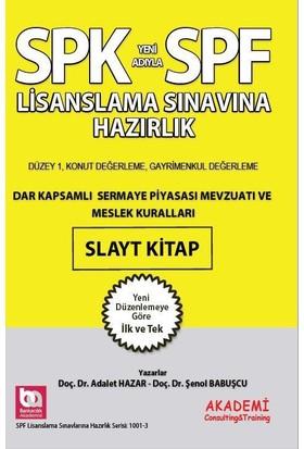 SPK SPF Dar Kapsamlı Sermaye Piyasası Mevzuatı Ve Meslek Kuralları Slayt Kitap