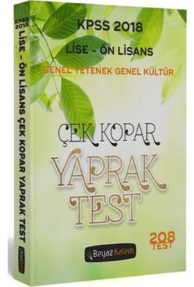 Beyaz Kalem 2018 KPSS Lise Ön Lisans Yaprak Test Çek Kopar