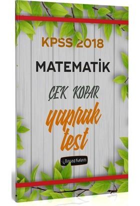 Beyaz Kalem 2018 KPSS Matematik Çek Kopar Yaprak Test