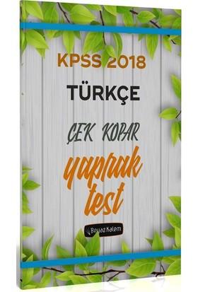 Beyaz Kalem 2018 KPSS Türkçe Çek Kopar Yaprak Test