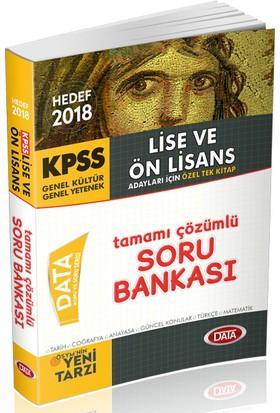 Data 2018 KPSS Lise Ön Lisans Soru Bankası Tek Kitap Çözümlü