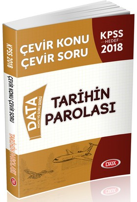 Data 2018 KPSS Tarihin Parolası Çevir Konu Çevir Soru