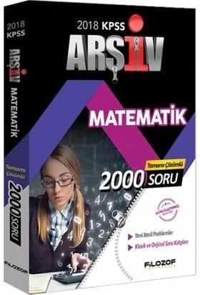 Filozof 2018 KPSS Arşiv Matematik 2000 Soru Bankası Çözümlü