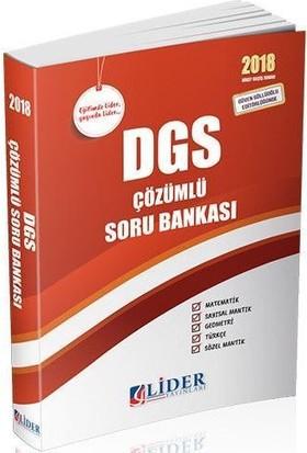 Lider 2018 DGS Çözümlü Soru Bankası