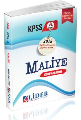 Lider 2018 KPSS A Maliye Konu Anlatımı