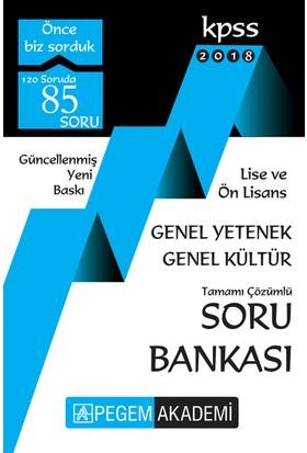 Pegem 2018 KPSS Lise Ön Lisans Soru Bankası Tek Kitap Çözümlü