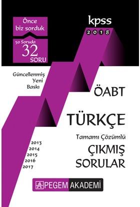 Pegem 2018 ÖABT Türkçe Çıkmış Sorular Çözümlü