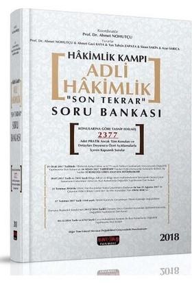 Savaş 2008 Hakimlik Kampı Adli Hakimlik Son Tekrar Soru Bankası