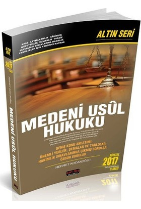 Savaş Medeni Usul Hukuku Altın Seri Mehmet Kodakoğlu