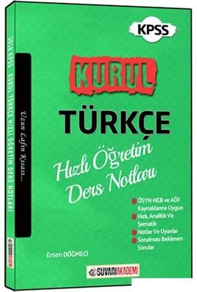 Süvari Akademi 2018 KPSS Kurul Türkçe Hızlı Öğretim Ders Notları