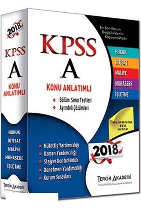 Tercih Akademi 2018 KPSS A Grubu Tüm Dersler Konu Anlatımlı
