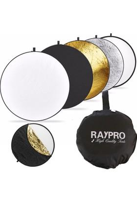 Raypro 110cm Profesyonel 5 in 1 Işık Yansıtıcı Reflektör Seti