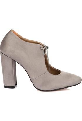 Pembe Potin Gri Nubuk Ayakkabı