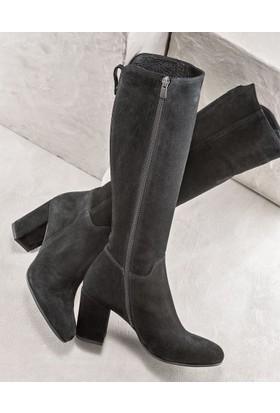 Elle Ronalde Kadın Çizme Siyah