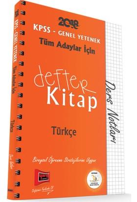 Yargı Yayınları 2018 Kpss Tüm Adaylar İçin Defter Kitap Türkçe Ders Notları