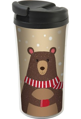 Allmug İç-Dış Plastik Termos- Teddy Bear Mug