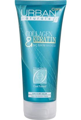 URBAN Care Collagen Keratin Kuru Mat Saçlar için Hacimlendirici Saç Maskesi-200ml