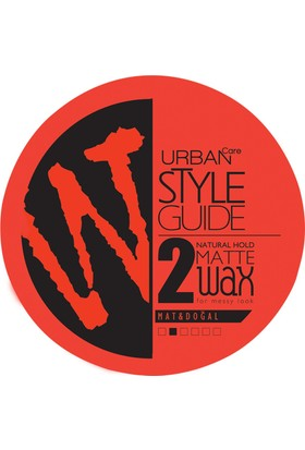 URBAN Care Style Guide Doğal Görünüm Mat Wax - 100ml