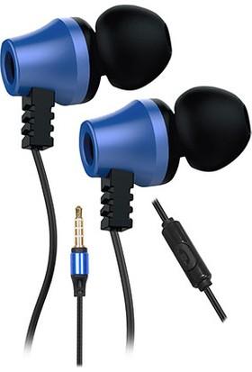 Snopy SN-J02 Thunderbird Mobil Telefon Uyumlu Taşıma Çantalı Kulak İçi Siyah/Mavi Mikrofonlu Kulaklık