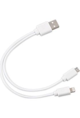 S-link SL-IP53 USB iPhone 6/7/8 + Micro 5Pin Çevirici Kablo