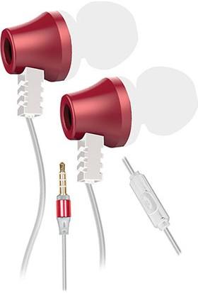 Snopy SN-J02 Thunderbird Mobil Telefon Uyumlu Taşıma Çantalı Kulak İçi Beyaz/Pembe Mikrofonlu Kulaklık