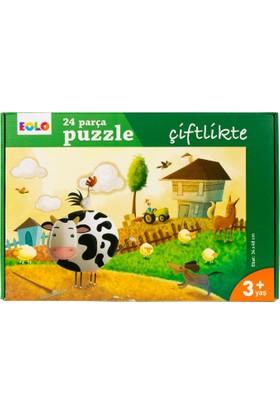 24 Parça Yer Puzzle: Çiftlikte