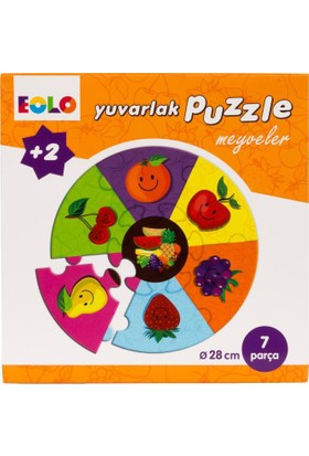 Yuvarlak Puzzle: Meyveler