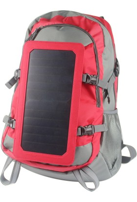 ECEEN Güneş Enerjili Sırt Çantası 45 lt - Kırmızı
