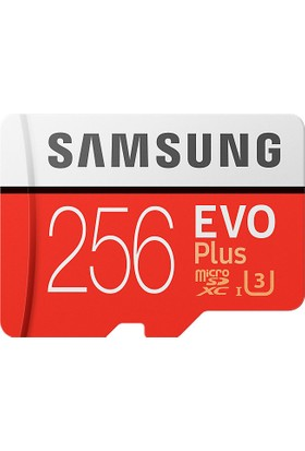 Samsung EVO Plus 256GB 100 MB/s microSDXC Kart (SD Adaptör) MB-MC256GA/EU