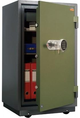 Valberg FRS 93 Anahtar ve Elektronik Şifreli Yangın Sertifikalı Çelik Kasa