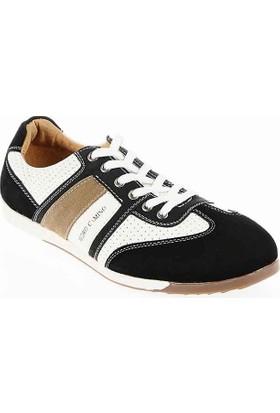 Pedro Camino Weekend Erkek Günlük Ayakkabı 733101 Siyah-Beyaz