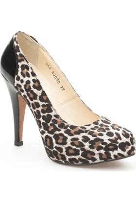 Pedro Camino Kadın Klasik Ayakkabı 82070 Leopar