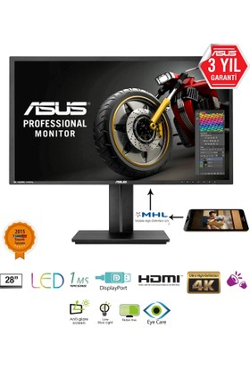 "Asus PB287Q 28"" 1ms (HDMI+MHL+Display) 4K UHD Led Monitör"