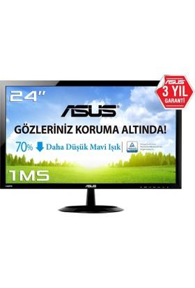 "Asus VX248H 24"" 1ms (Analog+DVI+2xHDMI) Full HD Led Monitör"