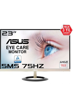 "Asus VZ239Q 23"" 75 Hz 5ms (Analog+HDMI+Display) FreeSync FHD IPS Monitör"