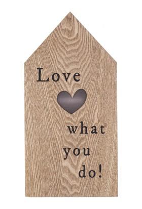 "LoveQ Ledli Pano ""Love What You Do"" 17X34X3,5 Cm."